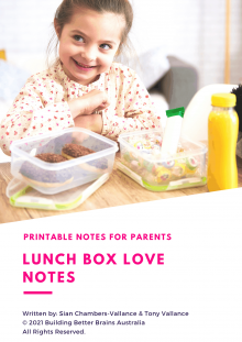 Lunchbox Love Notes Printable Download by Building Better Brains Australia